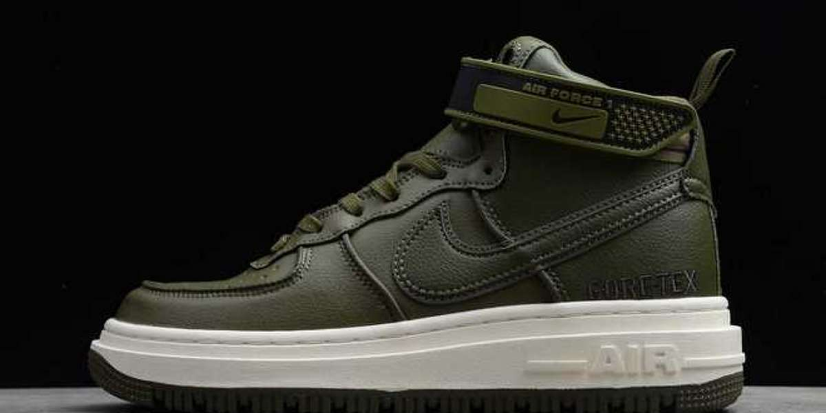 """New Nike Air Force 1 Gore-Tex Boot """"Medium Olive"""" Shoes CT2815-201"""